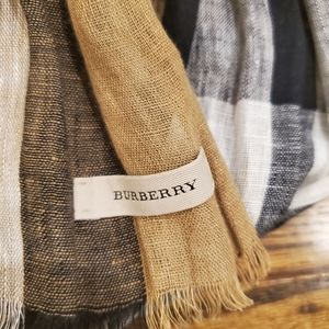 Burberry scarf wrap wool and silk.
